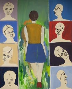 Abschied auf Zeit_2015_Acryl auf Baumwolle_170 x 140 cm
